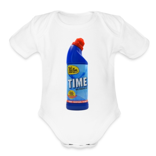 Time Bleach - Women's T-Shirt - Organic Short Sleeve Baby Bodysuit
