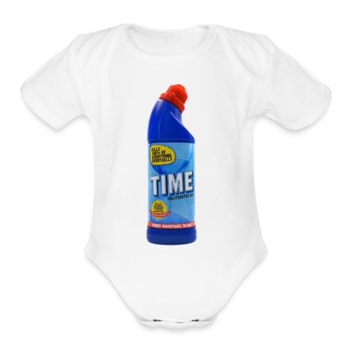 Time Bleach - Women's T-Shirt - Organic Short Sleeve Baby Bodysuit