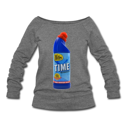 Time Bleach - Women's T-Shirt - Women's Wideneck Sweatshirt