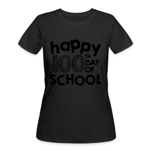 Happy 100th Day of School | Chalk - Women's 50/50 T-Shirt