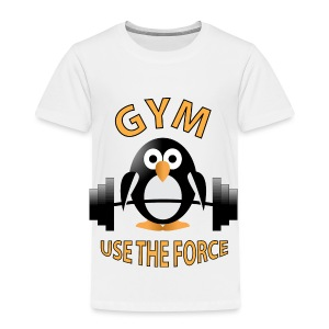 Penguin with a barbell - Toddler Premium T-Shirt