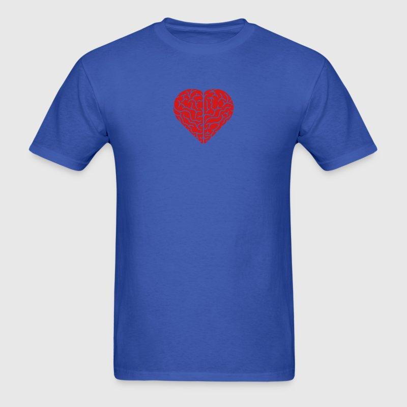 Lovely heart shaped brain T-Shirts - Men's T-Shirt
