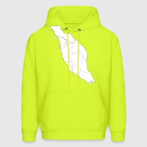 Blank map of Peninsular Malaysia (fixed and update - Men's Hoodie