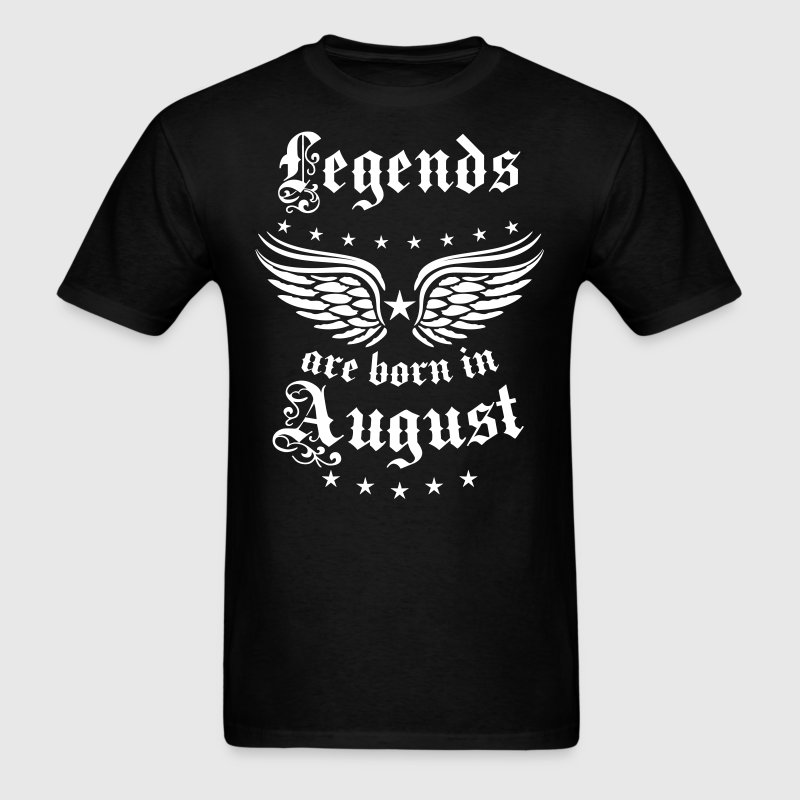 Legends are born in August birthday Vintage Stars  - Men's T-Shirt