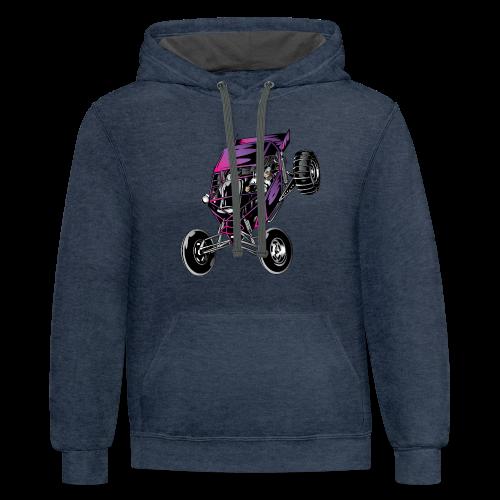 Purple Off-Road Dune Buggy Shirt - Contrast Hoodie