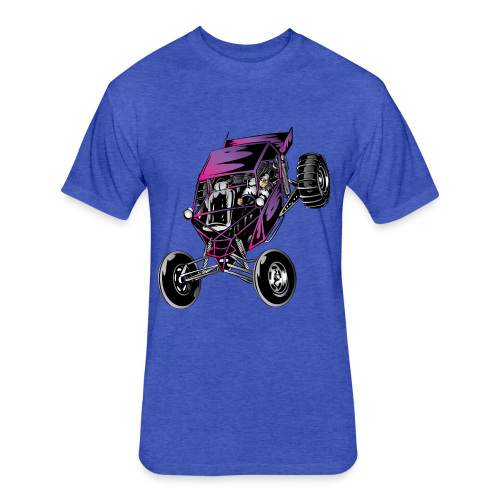 Purple Off-Road Dune Buggy Shirt - Fitted Cotton/Poly T-Shirt by Next Level
