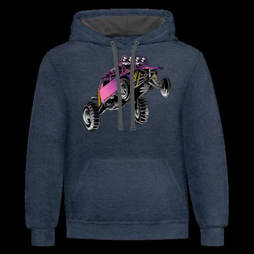 Purple Stunt Buggy Shirt - Contrast Hoodie