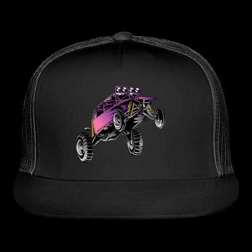 Purple Stunt Buggy Shirt - Trucker Cap