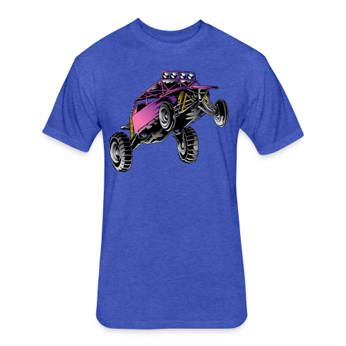 Purple Stunt Buggy Shirt - Fitted Cotton/Poly T-Shirt by Next Level