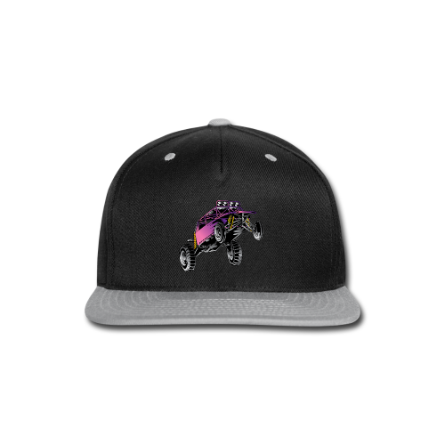 Purple Stunt Buggy Shirt - Snap-back Baseball Cap