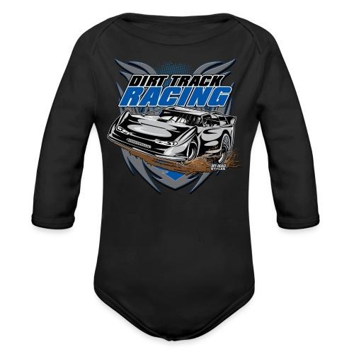 Dirt Track Modified Racer - Organic Long Sleeve Baby Bodysuit