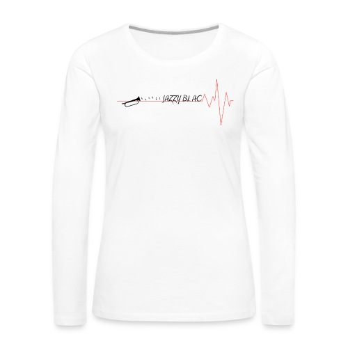 Jazzy Women's Longsleeve Tee w/ black text - Women's Premium Long Sleeve T-Shirt