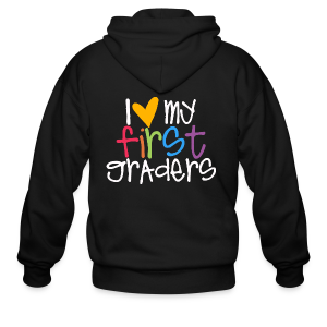 Love My First Graders - Men's Zip Hoodie