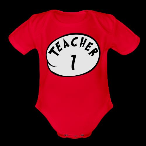 Teacher 1 - Organic Short Sleeve Baby Bodysuit
