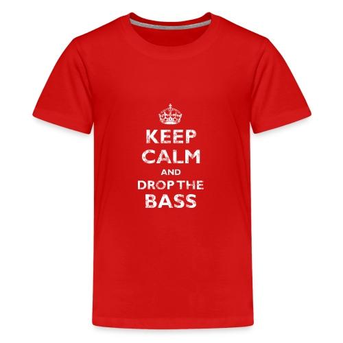 Keep Calm & Drop the Bass - Kids' Premium T-Shirt