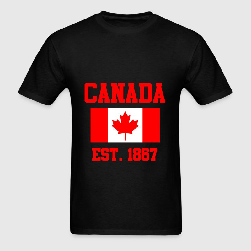 CANADA ESTABLISHED 1867 Leaf Flag Graphic T shirt T-Shirts - Men's T-Shirt