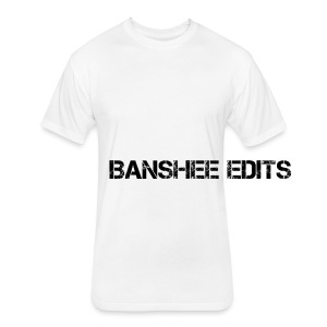 Banshee Edits Sideways Text - Fitted Cotton/Poly T-Shirt by Next Level