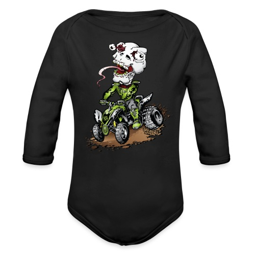 ATV Crazy Skully Kawasaki - Organic Long Sleeve Baby Bodysuit