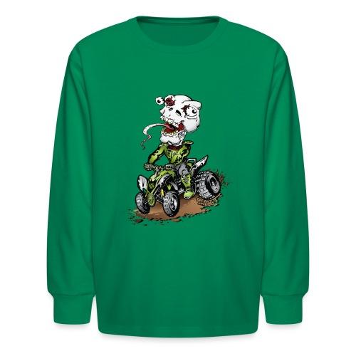 ATV Crazy Skully Kawasaki - Kids' Long Sleeve T-Shirt