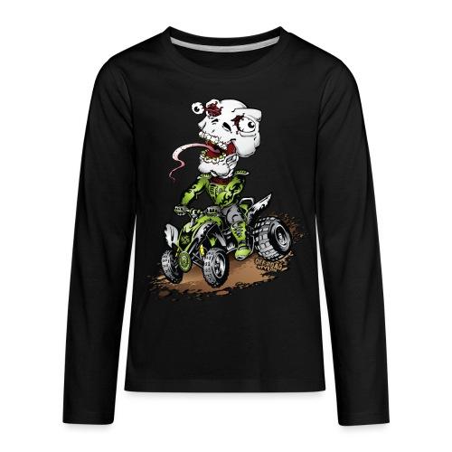 ATV Crazy Skully Kawasaki - Kids' Premium Long Sleeve T-Shirt