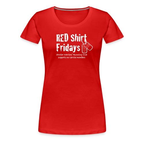 Women's 2017 RED Premium L/S Tee w/ White Printing - Women's Premium T-Shirt