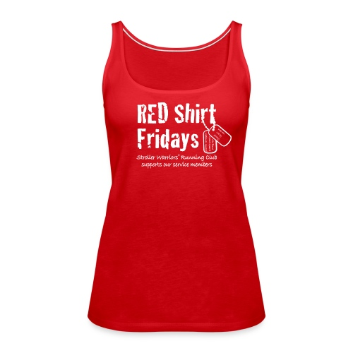 Women's 2017 RED Premium L/S Tee w/ White Printing - Women's Premium Tank Top
