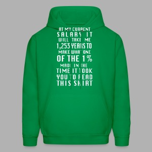 Income inequality - Men's Hoodie