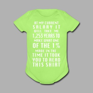 Income inequality - Short Sleeve Baby Bodysuit