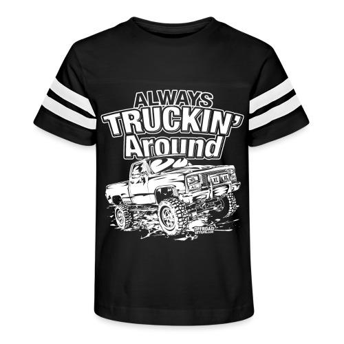 Alway's Truckin Around - Kid's Vintage Sport T-Shirt
