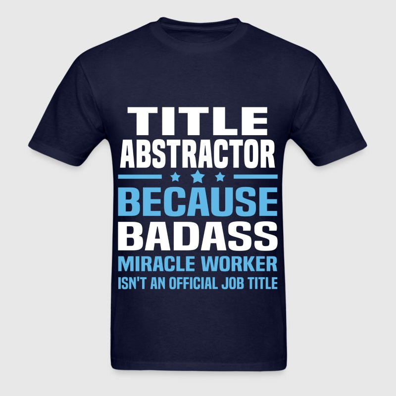Title Abstractor Tshirt - Men's T-Shirt