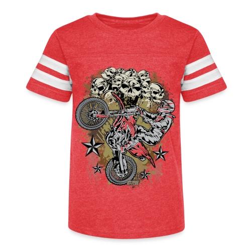 Supercross Mud Skulls - Kid's Vintage Sport T-Shirt
