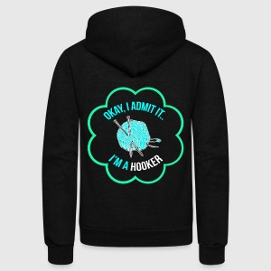 I am hooker T-Shirts - Unisex Fleece Zip Hoodie by American Apparel