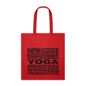 Yoga Asanas - Women's T-shirt - bw - Tote Bag