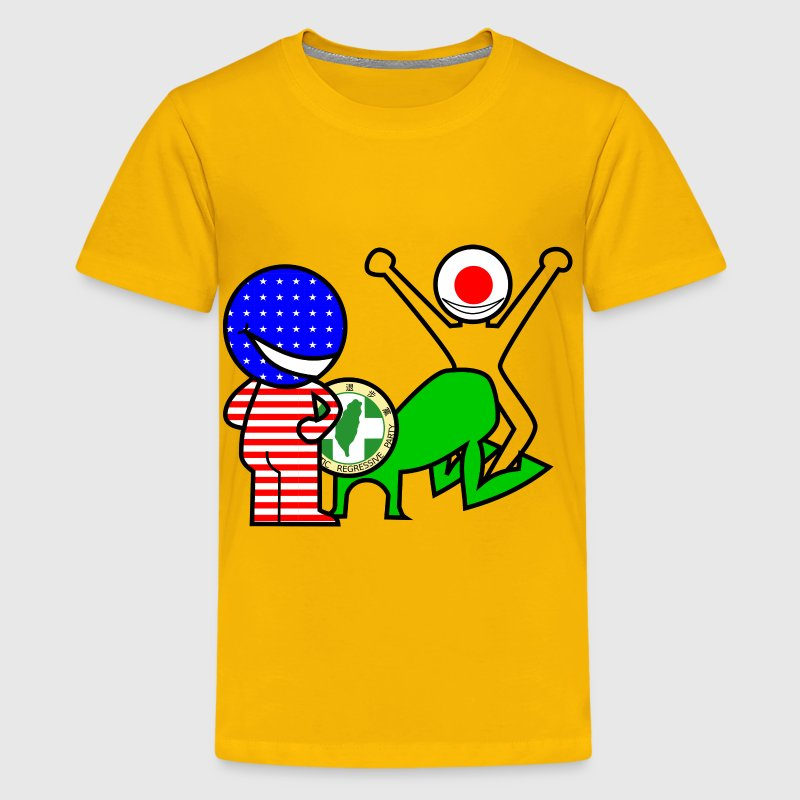 Satirical comic Taiwan DRP - Kids' Premium T-Shirt