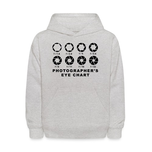 T- shirt Photographer's Eye Chart - Kids' Hoodie