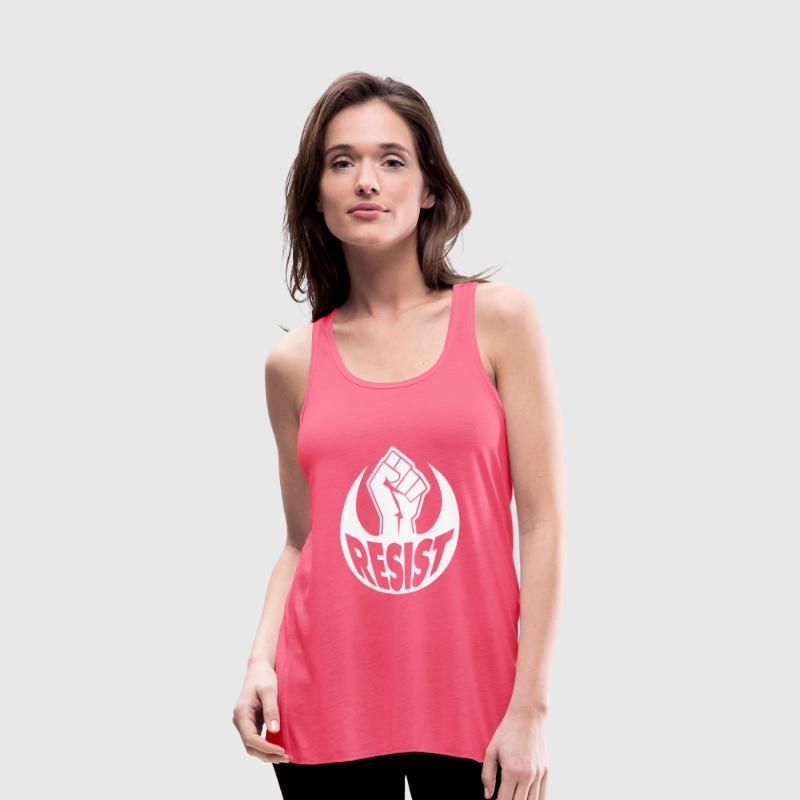 Resist power fist Tanks - Women's Flowy Tank Top by Bella