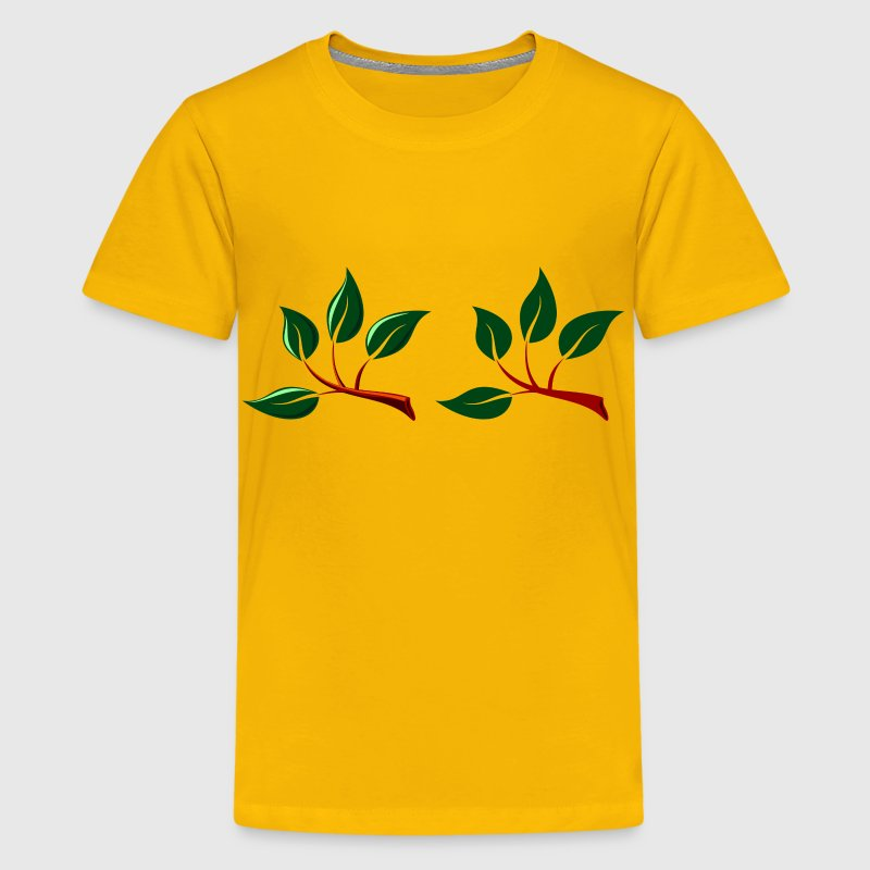 Two Branches With Leaves - Kids' Premium T-Shirt