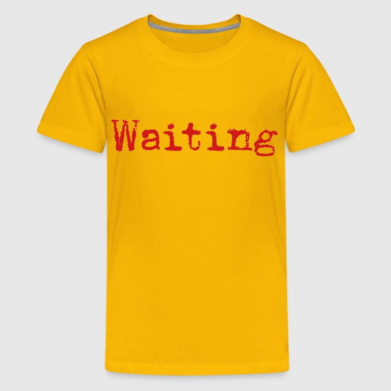 Waiting... Poetry Book English - Kids' Premium T-Shirt