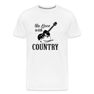 In love with country - Men's Premium T-Shirt