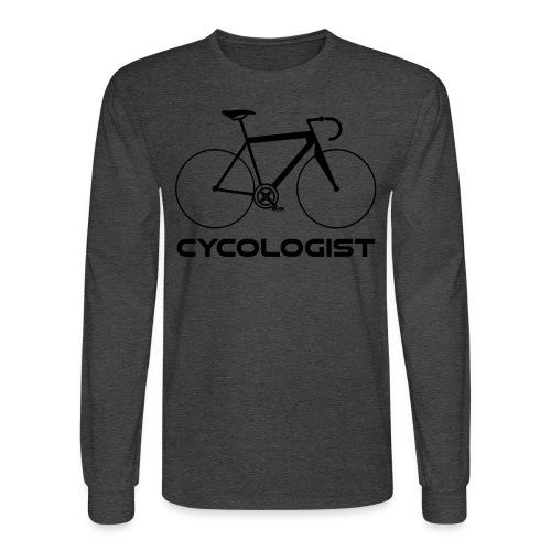 Cycologist = cyclist + psychologist t-shirt - Men's Long Sleeve T-Shirt