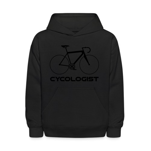 Cycologist = cyclist + psychologist t-shirt - Kids' Hoodie