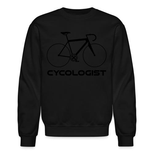 Cycologist = cyclist + psychologist t-shirt - Crewneck Sweatshirt