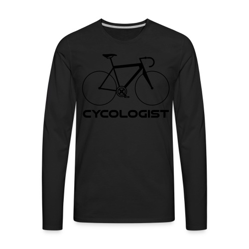 Cycologist = cyclist + psychologist t-shirt - Men's Premium Long Sleeve T-Shirt