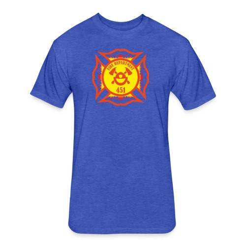 Fire Department 451 - Fitted Cotton/Poly T-Shirt by Next Level