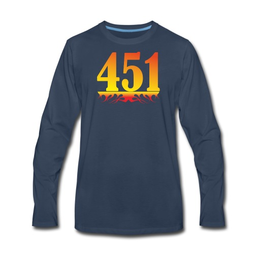 Fahrenheit 451 - Men's Premium Long Sleeve T-Shirt