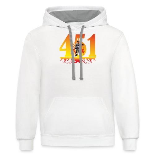 Fahrenheit 451 - Contrast Hoodie