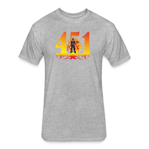 Fahrenheit 451 - Fitted Cotton/Poly T-Shirt by Next Level