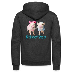 Prissy and Pop Kid's Hoodie - Unisex Fleece Zip Hoodie by American Apparel