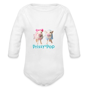 Prissy and Pop Apron - Long Sleeve Baby Bodysuit