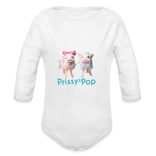 Prissy and Pop Apron - Organic Long Sleeve Baby Bodysuit
